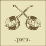Menu2 - Pasta Page Royalty Free Stock Photos