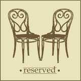 Menu2 - Reserved Sign Royalty Free Stock Photography