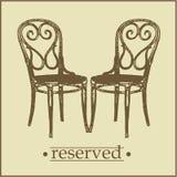 menu2 rezerwujący znak Fotografia Royalty Free
