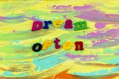 A menudo plástico ideal de la ambición de la aventura del soñador imagen de archivo