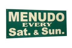 Menudo sign Royalty Free Stock Images