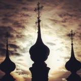 Menueten bij zonsondergang, Suzdal, Rusland Stock Afbeelding