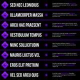 Menumalplaatje met horizontale opties/banners Eps10 Vector Royalty-vrije Stock Foto's