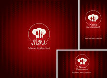 Menus and business cards for restaurant Royalty Free Stock Photos