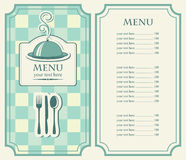 Menus cafe or restauran Royalty Free Stock Photography