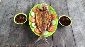 The menus. The grilled fish is today`s lunch menu Royalty Free Stock Image