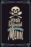 Menus for pirate restaurants Royalty Free Stock Photo