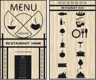 Menus pour des restaurants, cafés, ensemble d'icônes Image stock