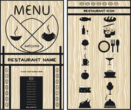 Menus for restaurants, cafes,  set of icons Stock Image