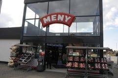 MENY食物链市场 免版税库存图片