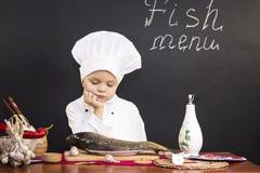 Meny av fisken Royaltyfri Bild