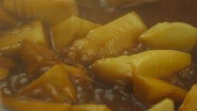 Meny av taditionalkineskokkonst Bambuforsen är läcker mat som växer i berg royaltyfri bild