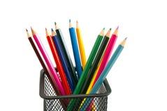 Meny colorful pencils Royalty Free Stock Photos