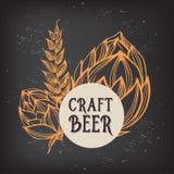 Meny för ölrestaurangkafé, malldesign royaltyfri illustrationer