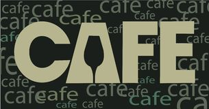 meny för hus för design för cafekaffebegrepp Royaltyfria Bilder