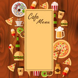 Meny för kafébakgrund Royaltyfri Bild