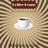 Meny för kaffe i tappning Arkivbilder