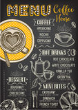 Meny för kafferestaurangkafé, malldesign royaltyfri illustrationer