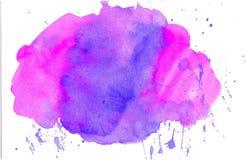 Meny för mall för kort för anmärkning för vattenfärgbakgrundssvart Arkivfoto
