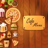 Meny för pizzamall Royaltyfri Bild