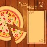 Meny för pizzamall Arkivfoto