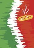 Meny för pizzeria Royaltyfri Bild