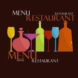 Meny för restaurang och kafé Arkivfoton