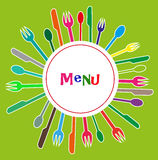 Meny för restauranger Arkivfoto