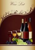 Meny för vinlista Fotografering för Bildbyråer