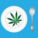 Meny med cannabis Arkivfoton