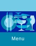 meny restaurangmall för stång Arkivbilder
