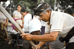 Menyame Braye, a Balinese ritual, Indonesia. Balinese people celebrate menyame braye by working together for their village. This wonderful life moment is Royalty Free Stock Image