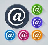 Menycirkelsymboler med skugga Arkivbild