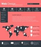 Menydesign för webbplats Arkivfoton