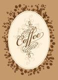 Menylista för kaffe vektor illustrationer