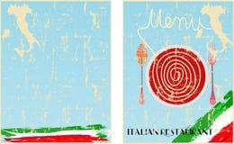 Menymall för siditaliensk restaurang 2 Arkivbilder