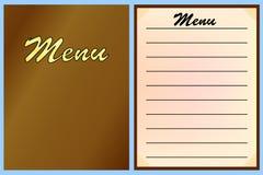 Menymallar för restaurangen, kafé vektor stock illustrationer