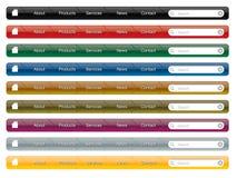 menynavigeringwebsite Fotografering för Bildbyråer