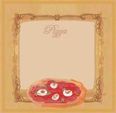 menypizzamall Royaltyfria Bilder