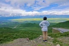 Menyuan-Landschaft lizenzfreies stockbild