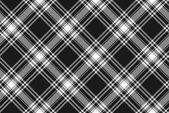 Menzies tartan black kilt diagonal fabric texture seamless patte Royalty Free Stock Image