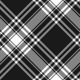 Menzies tartan black kilt diagonal fabric texture seamless  Stock Images