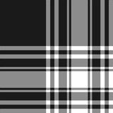 Menzies tartan black kilt fabric texture seamless pattern. Vector illustration. EPS 10. No transparency. No gradients Stock Photography
