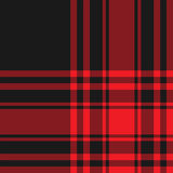 Menzies tartan black red kilt fabric texture seamless pattern Royalty Free Stock Photo