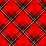Menzies tartan black red kilt skirt fabric texture seamless pattern.Vector illustration. EPS 10. No transparency. No gradients vector illustration