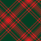 Menzies tartan green red kilt diagonal fabric texture seamless  Royalty Free Stock Photos
