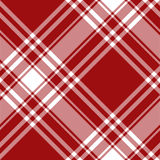 Menzies tartan red kilt diagonal fabric texture seamless pattern. Vector illustration. EPS 10. No transparency. No gradients Stock Photos