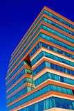 Menzis Office Building, Netherlands. Menzis Office Building, Groningen, Netherlands. Three identical prismatic volumes, each four stories high, are rotated at 90 Royalty Free Stock Image