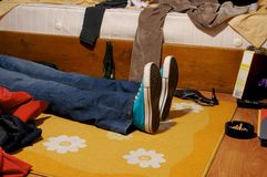 Menzogne giù 1 Fotografia Stock