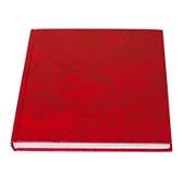 Menzogne rossa del libro isolata Immagine Stock